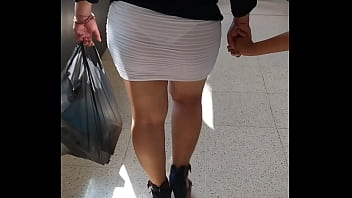 My bitch walking her ass in the supermarket