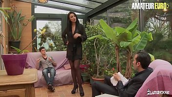 amateur euro - this busty polish milf ania kinski gets dp from french hubby and stepson