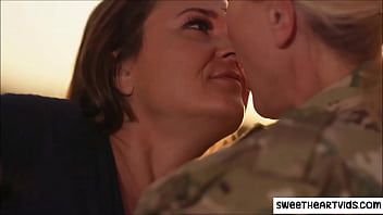 Lesbian sex with army girl