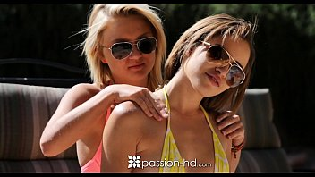 Passion-HD - Two hot teens have threesome by the pool 8 min