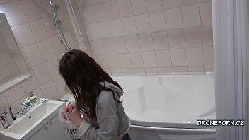 Czech Girl Keti in the shower - Hidden camera