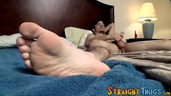 Gay mens favorite underwear Young twink chad turner strokes his big fat dick