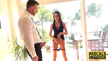 Fingering kinky sub gets butt and vag banged 12 min