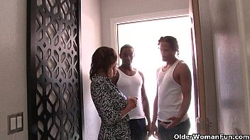 Cuckold hubby watches wife fucking two black cocks