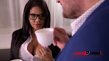 Bustyretary Kesha Ortega gets her Latina tits & pussy fucked at office GP806