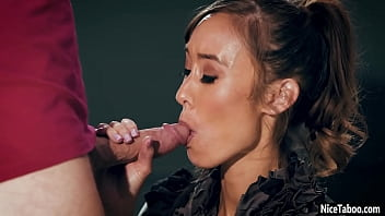Horny MILF lesbian Christy Love teacher fucks naive student after cock sucking