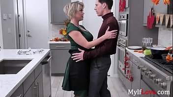 Blonde Mom Eats Son In The Kitchen- Dee Williams
