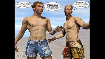 CHARLIE AT THE CARNIVAL: 3D Gay World Comics 9 min