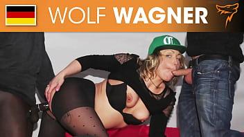 Horny Eva Adams loves getting 2 stiff dicks for her wet holes at the same time  (FULL SCENE)! WolfWagner.com 42分钟