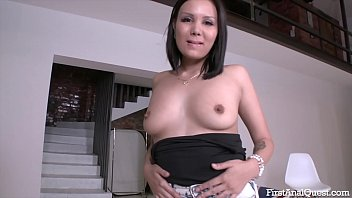 FIRSTANALQUEST.COM - ASIAN HAS HER FIRST ANAL WITH A BIG COCK GUY 33 min