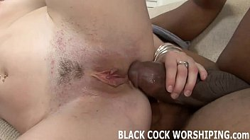 Watch two huge black studs pounding my holes