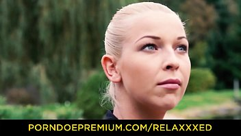 RELAXXXED - Sultry Czech blonde babe Karol Lilien gives up workout for hot cock riding 10 min