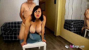 Yo tits Nataly wants to be a porn performer. she and her humongous tits are gona fuck the plumber