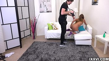 Fake photographer Vira Gold persuaded a blonde model to suck him dick