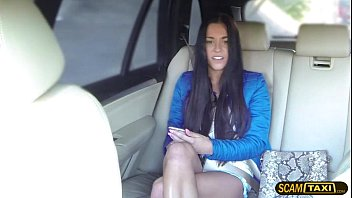 Sexy secretary bangs for job interview inside the taxi thumbnail