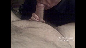 Granpas old gay cock - Grandpa silverdaddy swallows cum from uncut cock and licks my toes