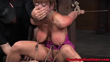 Sex s nt Busty nipple clamped sub mercilessly punished
