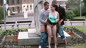 Girls fucking 6 guys Public street sex teens gang bang by a famous statue part 6