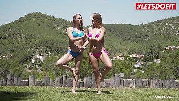 LETSDOEIT - Hot Lesbian Sex With Yoga Moves (Mary Rock & Mia Split) 10 min