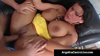 Cumming in her pussy videos only Cuban bj queen angelina castro gets a big cock and facial