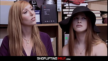 Big Tits Redhead MILF Stepmom Lauren Phillips Shoplifter And Teen Stepdaughter Scarlett Snow Groupsex With Two Officers