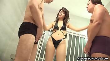 Skinny Mistress, Remi Kawamura is having a steamy hot threesome