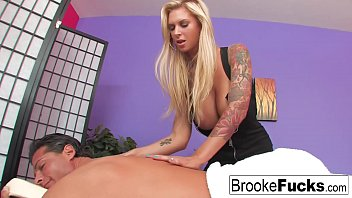 Brande nude Brooke brand gets fucked by nick manning over a massage table