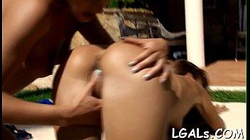 Lesbian babes fingering