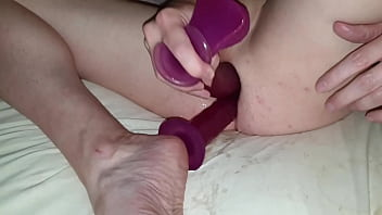 Anal training for double anal penetration and fisting