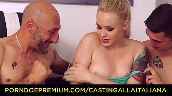 CASTING ALLA ITALIANA -  Beautiful Russian Lola Taylor takes two big Italian rods in hot MMF action preview image