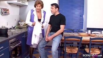 78yr old German Granny Seduce to Fuck by Step Grand Son 14 min