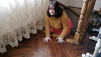 Scooby Doo Cosplay Velma gets fucked while she lost her glasses 7 min