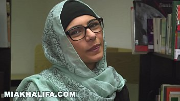 MIA KHALIFA - Lebanese Queen Removes Her Hijab And Clothes In A Public Library thumbnail