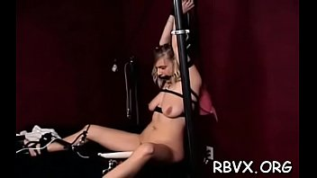 Salacious gal plays with her udders