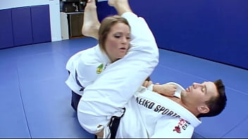 Student with big ass fucked Horny karate students fucks with her trainer after a good karate session