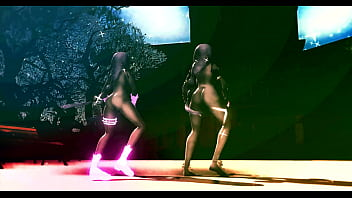 half-naked girls dancing under Rasputin