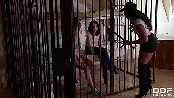 Inmates Milana Blanc & Rina Ellis Dominated By Prison Guard Jasmine Webb