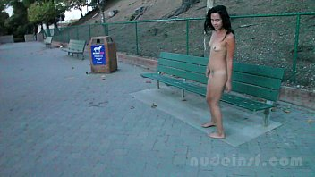 Nude in San Francisco:  Iris naked in public