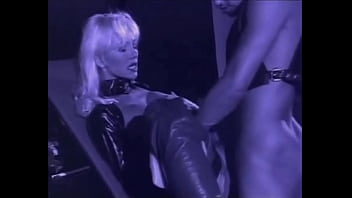 Very Beautiful Blonde Helen Duval in Leather Latex takes Deep Anal, Zenza Raggi