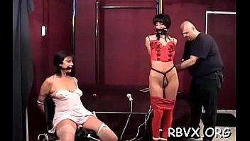 Completely free sex toy - Ditry bitch gets completely bounded and titillated by a toy