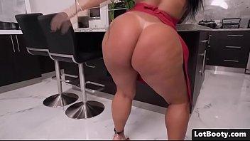 Fat butt brunette latina MILF PAWG gets big black dick