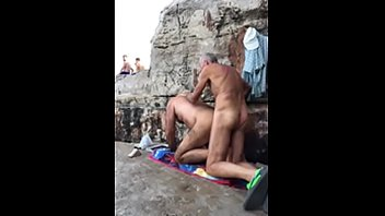 2 dads on the beach fucking