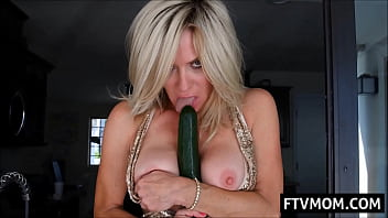 Mature milf and big cucumber