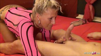 German MILF Lana Fuck Young Guy at Swinger Party and her Husband made movie