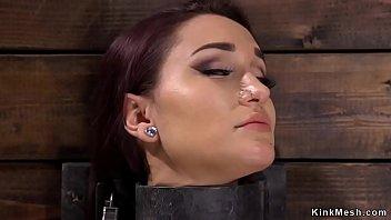 Experienced slut fingered in bondage