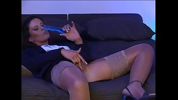 Horny young wife masturbating in front of her boss and get fucked thumbnail