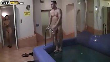 Fucking in sauna