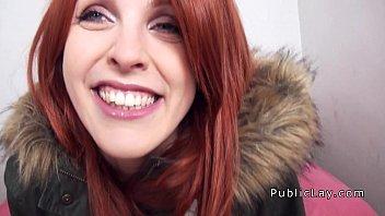 Spanish redhead babe from public banged pov