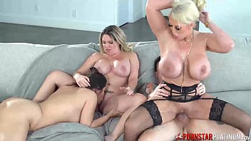 PORNSTARPLATINUM MILF Alura Jenson Rides Big Cock In Fourway