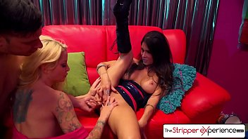 The Stripper Experience - Jessica Jaymes & Helly Hellfire fucking a big dick, big boobs and big booty 11 min